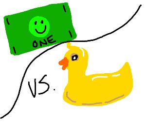 duck vs dollar bill