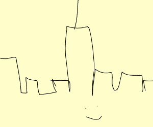Extremely detailed New York skyline