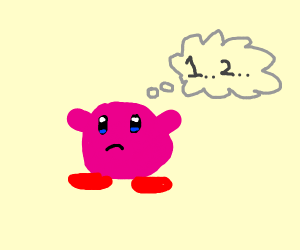 kirby can count to 2