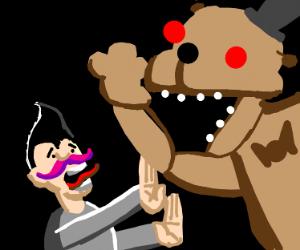 Markiplier getting scared by Freddy Fazbear