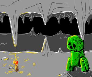 Creeper in a cave