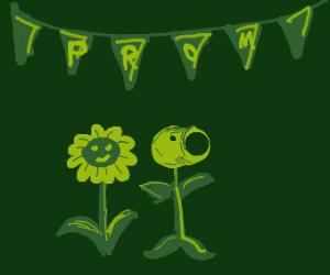 A Flower in a field - Drawception