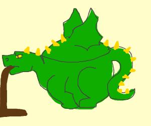 A dragon kettle