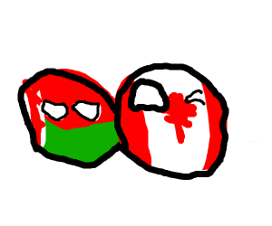 Canadaball and his best friend