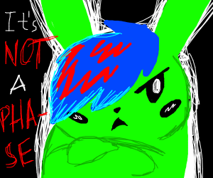 edgy green pikachu