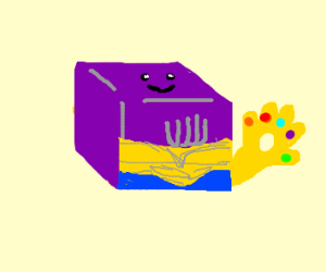 cube Thanos is friendly