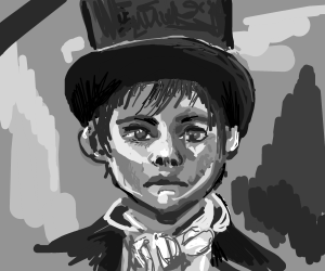 1840's orphan in a top hat