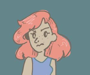 Snooty redhead