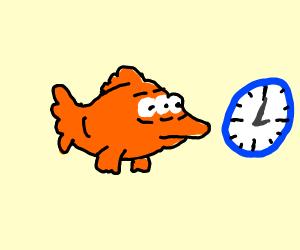 3 eyed fish frim simpson finds clock