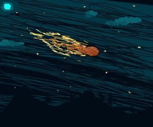 Meteorite Trails in the Night Sky