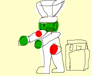 Zombie With Chef Outfit Next to Stove