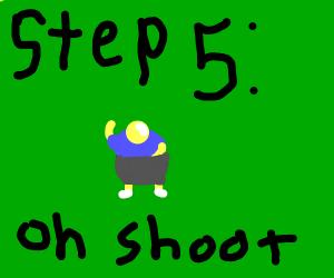 step 5: oh shoot a rat