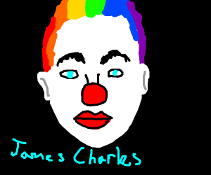 James Charles with clown makeup