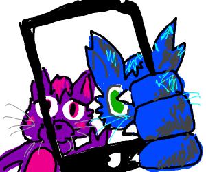 Furries take a selfie