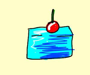iceberg with cherry on top