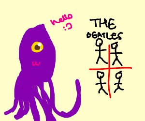 Friendly Squid Greeting the Beatles