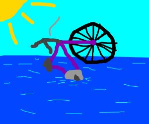Sinking bike