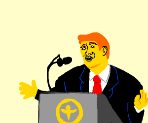 yellow mayor gives speach