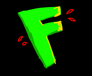"""A green letter """"F"""""""