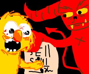 Yellmo sells his soul to Satan