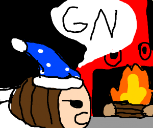 Shank of meat says gn to fireplace