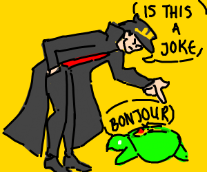 Jotaro meets turtle Polnareff