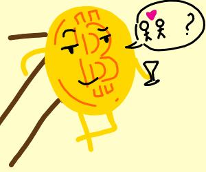 a singular bitcoin asks you on a date