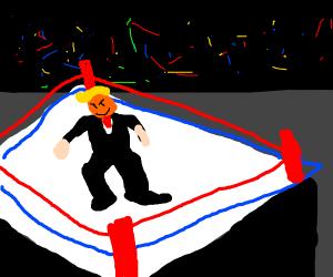 Trump is a wwe wrestler in alternate universe