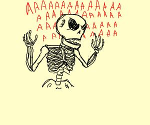 Skeleton screaming