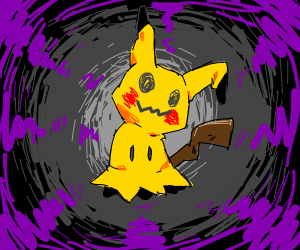 a wild cursed pickachu appeared