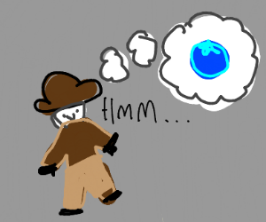Detective imagining a Blueberry