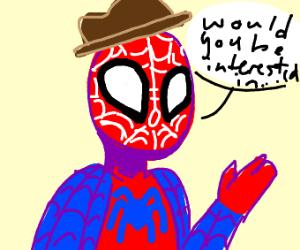 spider businessman