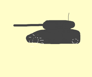 Man on a tank (only two wheels)