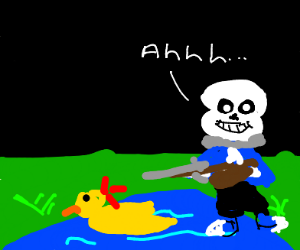 Sans Finds Shooting Ducks Peaceful