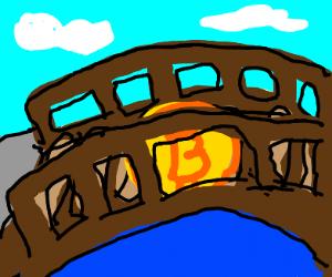 Bitcoin crossing a Bridge