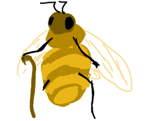 Bee with one leg
