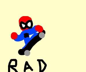 Totally Radical Spiderman On A Skateboard!
