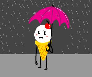 ice cream in the rain