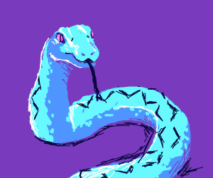 a cute blue snek