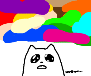 Cat sees EVERY color and is astonished
