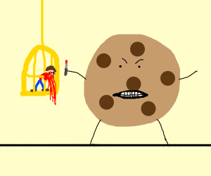 Cookie kills man in a bardcage