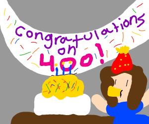 400 congratulations!