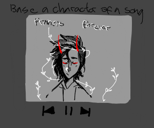 Think of a song, draw a character based off i