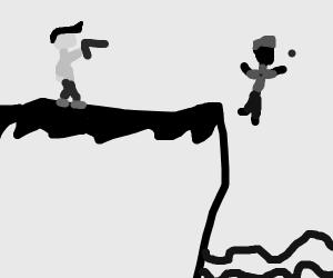 Man shoots another man off a cliff