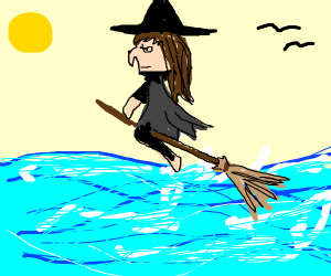 Witch crossing the Ocean