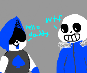 Lancer is calling Sans Daddy.