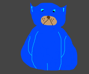 fat blue animal hero