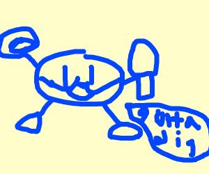 mr. blue bugger. the archaeologist