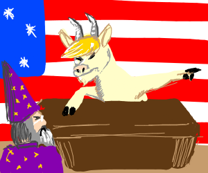 Goat Trump fires wizard