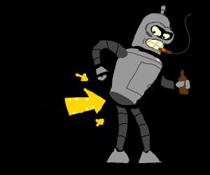 Robot wants you to bite its shiny metal ass